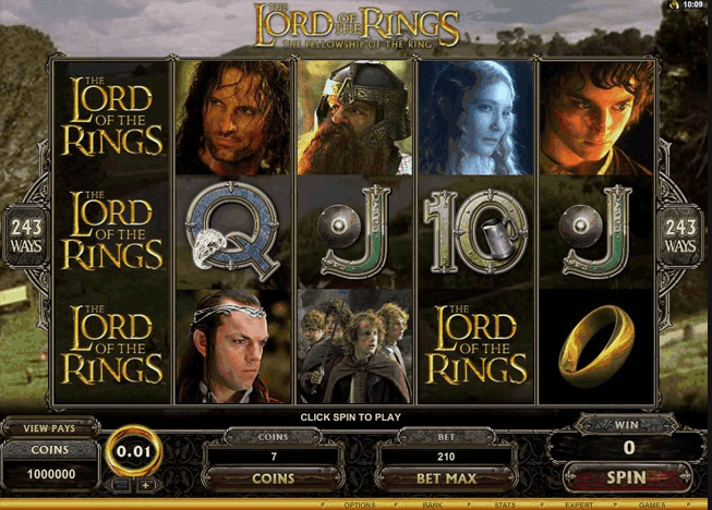 free online slots lord of the rings
