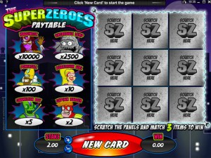 Super Zeroes Scratch Card