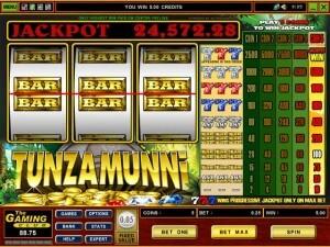 Tunzamunni progressive slot jackpot