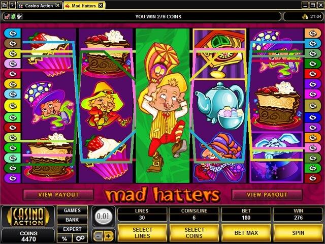 Mad Hatters slot - spil Microgaming slots gratis