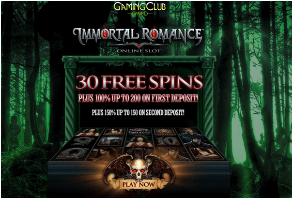 30 free spins Immortal Romance