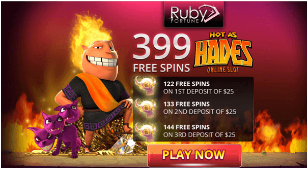 399 Free Spins on Hot as Hades Slot