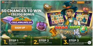 Royal Vegas Casino Canada free spins
