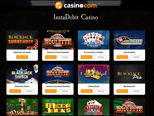 online casino deposit options
