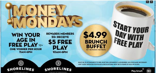 Shoreline casino slot bonus for Canadians