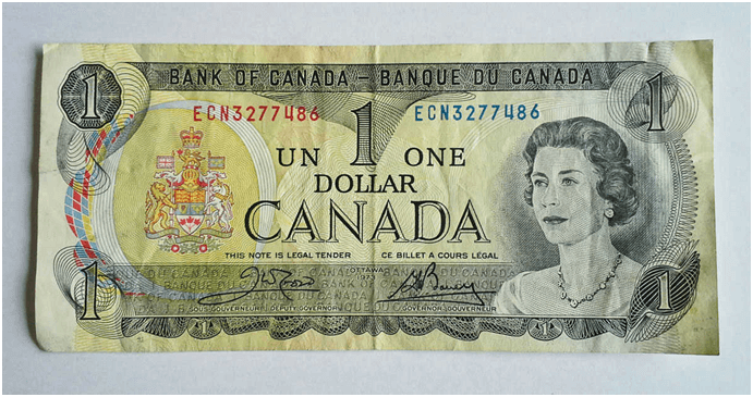 Bank of Canada $1 Bill now worth $7000