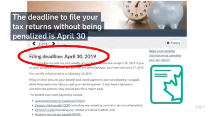 When to file tax returns in Canada