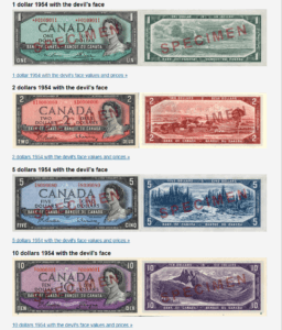 Devil Face notes Canada