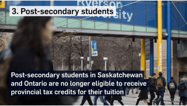 Post secondary students tax