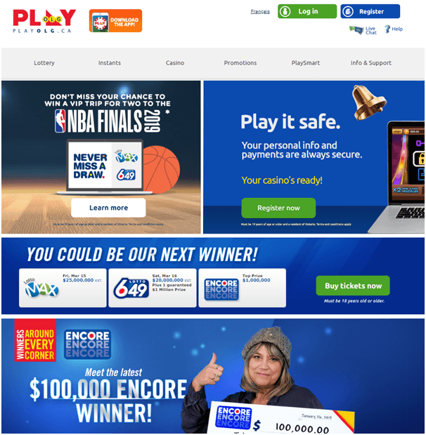 PlayOLG Site to play Bingo