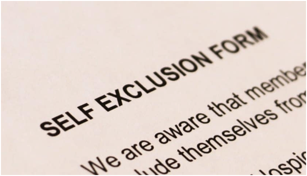 How to register for self exclusion program