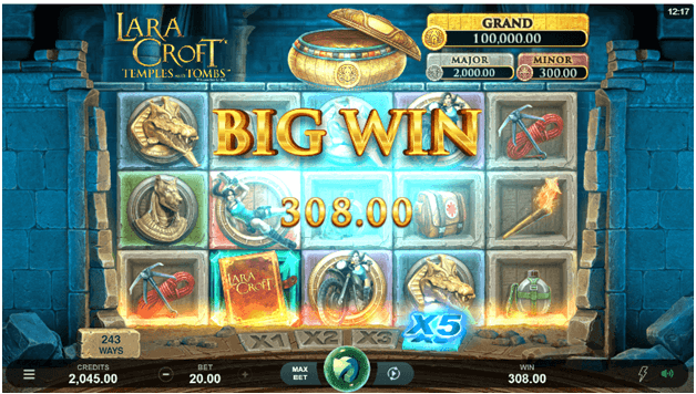 Lara Croft Temples and Tombs slots Jackpot
