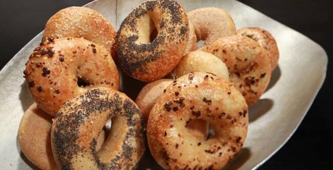 Enjoy bagels with a bonus sandwich
