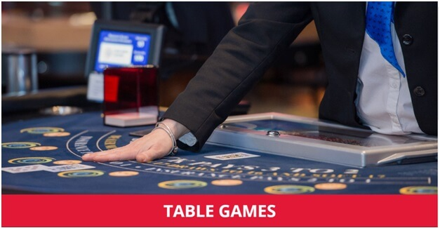 Table games at Starlight casino
