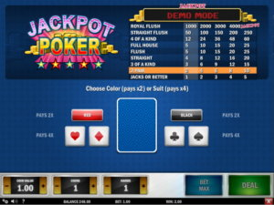 Best 4 Video Pokers with 4000+ Jackpot Coins to Win