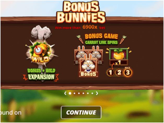 Bonus Bunnies game features