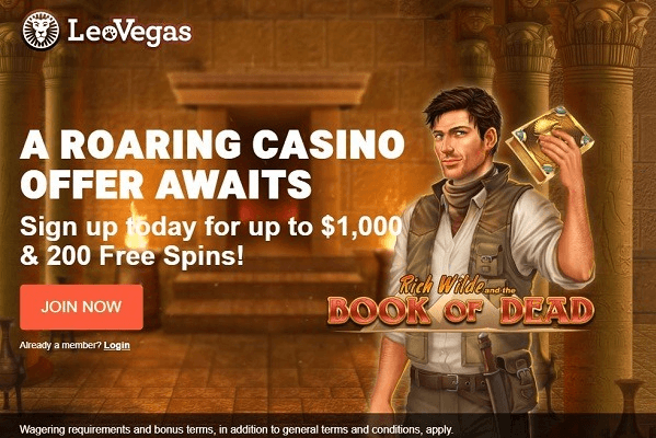 Leo Vegas Casino Book of Dead free spins