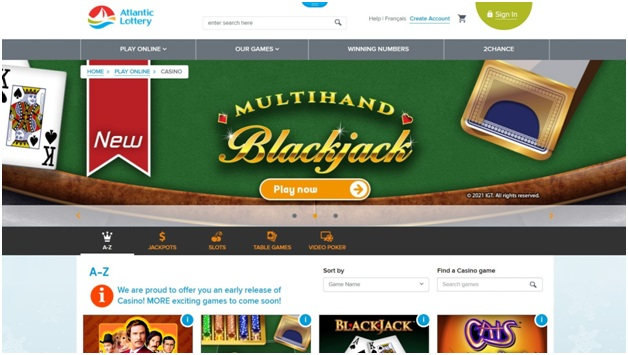 Atlantic Lottery Corporation New Brunswick casino online