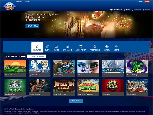 Clear Play Bonus System at All Slots Casino Canada to Play Smart