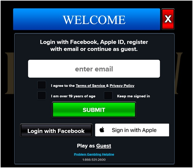 How to get started at Falls view casino app