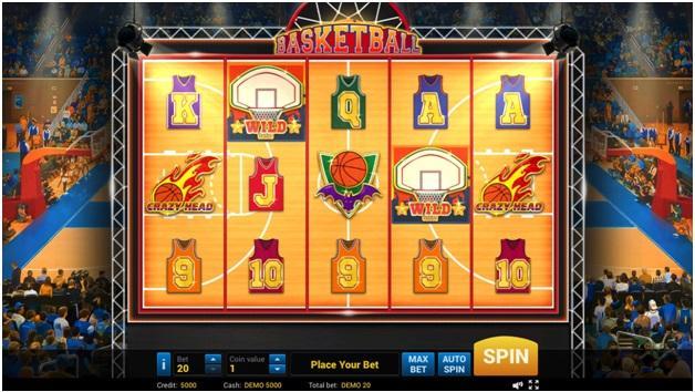 basketball slot game