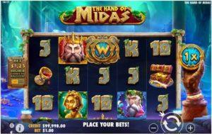 The hand of Midas- Game Symbols