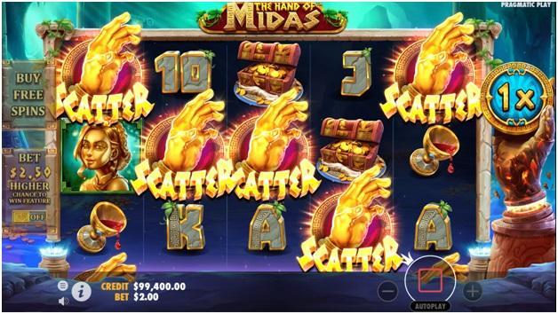 The hand of Midas- Winning combinations