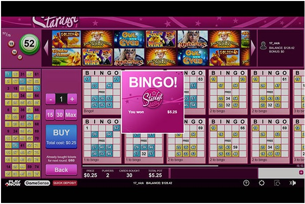 Bingo at play now Canada