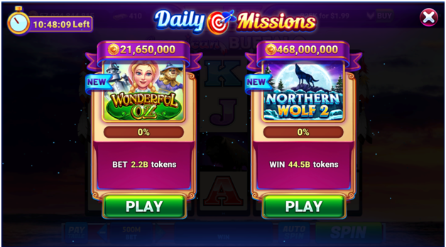 Daily Missions at GSN Casino