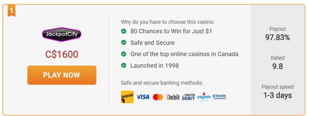 jackpot city casino $1 casino
